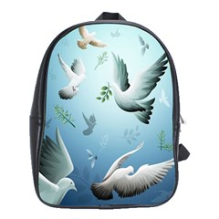 Animated Nature Wallpaper Animated Bird School Bags (xl)