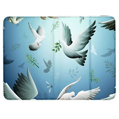 Animated Nature Wallpaper Animated Bird Samsung Galaxy Tab 7  P1000 Flip Case by AnjaniArt