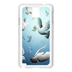 Animated Nature Wallpaper Animated Bird Samsung Galaxy Note 3 N9005 Case (white) by AnjaniArt
