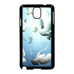Animated Nature Wallpaper Animated Bird Samsung Galaxy Note 3 Neo Hardshell Case (black) by AnjaniArt
