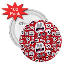 Another Monster Pattern 2 25  Buttons (100 Pack)