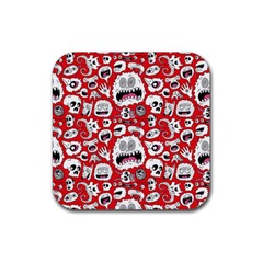 Another Monster Pattern Rubber Coaster (square)  by AnjaniArt