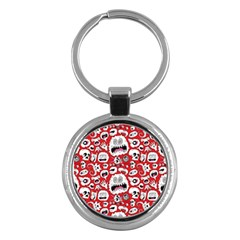 Another Monster Pattern Key Chains (round)  by AnjaniArt