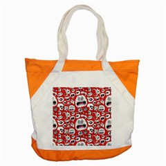 Another Monster Pattern Accent Tote Bag by AnjaniArt