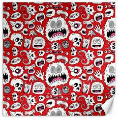 Another Monster Pattern Canvas 16  X 16   by AnjaniArt