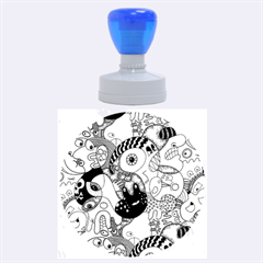 Another Weird Pattern Rubber Round Stamps (large) by AnjaniArt