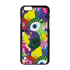Another Weird Pattern Apple Iphone 6/6s Black Enamel Case by AnjaniArt