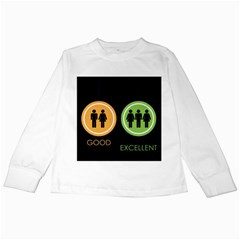 Bad Good Excellen Kids Long Sleeve T Shirts