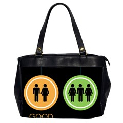 Bad Good Excellen Office Handbags (2 Sides)  by AnjaniArt