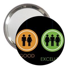Bad Good Excellen 3  Handbag Mirrors