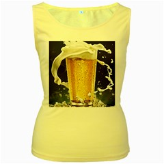 Beer 1 Women s Yellow Tank Top by AnjaniArt
