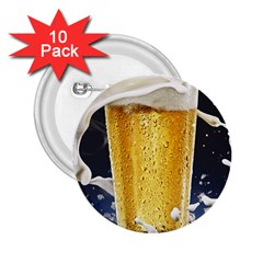 Beer 1 2 25  Buttons (10 Pack)