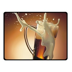 Beer Wallpaper Fleece Blanket (small) by AnjaniArt
