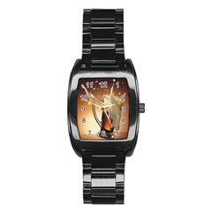 Beer Wallpaper Stainless Steel Barrel Watch by AnjaniArt