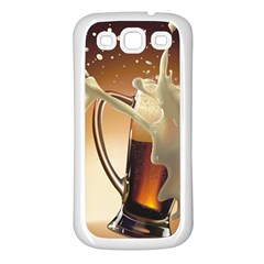 Beer Wallpaper Samsung Galaxy S3 Back Case (white)