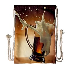 Beer Wallpaper Drawstring Bag (large)