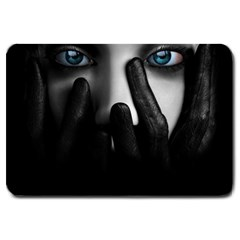 Black And White Large Doormat  by AnjaniArt