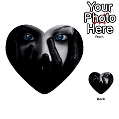 Black And White Multi Purpose Cards (heart)