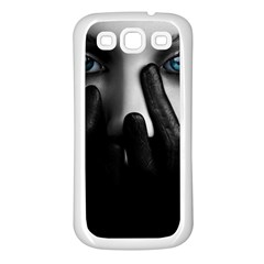 Black And White Samsung Galaxy S3 Back Case (white)