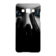 Black And White Samsung Galaxy A5 Hardshell Case  by AnjaniArt