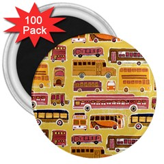 Bus Cartoons Logo 3  Magnets (100 Pack)