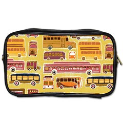 Bus Cartoons Logo Toiletries Bags 2 Side