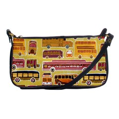 Bus Cartoons Logo Shoulder Clutch Bags by AnjaniArt