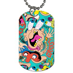 Cartoons Funny Face Patten Dog Tag (two Sides) by AnjaniArt