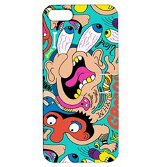 Cartoons Funny Face Patten Apple Iphone 5 Hardshell Case With Stand