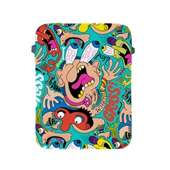 Cartoons Funny Face Patten Apple Ipad 2/3/4 Protective Soft Cases by AnjaniArt