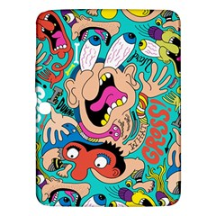 Cartoons Funny Face Patten Samsung Galaxy Tab 3 (10 1 ) P5200 Hardshell Case  by AnjaniArt