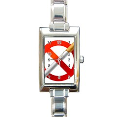 Cigarette Rectangle Italian Charm Watch