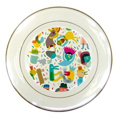 Colorful Cartoon Funny People Porcelain Plates