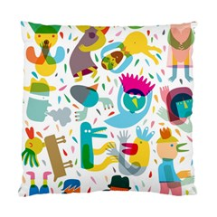 Colorful Cartoon Funny People Standard Cushion Case (one Side)