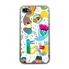 Colorful Cartoon Funny People Apple Iphone 4 Case (clear) by AnjaniArt
