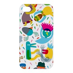 Colorful Cartoon Funny People Apple Iphone 4/4s Hardshell Case