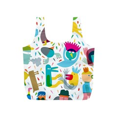 Colorful Cartoon Funny People Full Print Recycle Bags (s)  by AnjaniArt