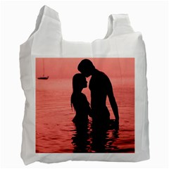Couple In Love Beach Recycle Bag (one Side)