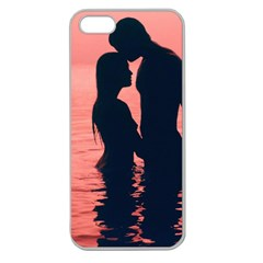 Couple In Love Beach Apple Seamless Iphone 5 Case (clear)