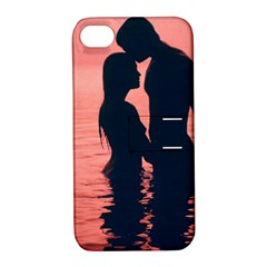 Couple In Love Beach Apple Iphone 4/4s Hardshell Case With Stand by AnjaniArt