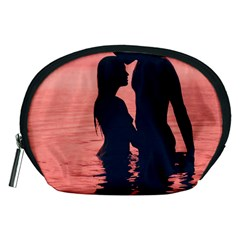 Couple In Love Beach Accessory Pouches (medium)  by AnjaniArt