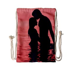 Couple In Love Beach Drawstring Bag (small)