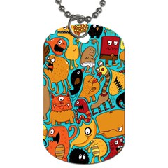 Creature Cluster Dog Tag (two Sides) by AnjaniArt