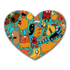 Creature Cluster Heart Mousepads by AnjaniArt