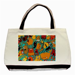 Creature Cluster Basic Tote Bag (two Sides) by AnjaniArt