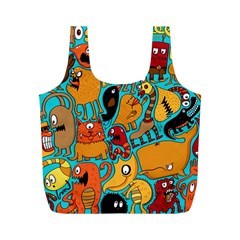 Creature Cluster Full Print Recycle Bags (m)  by AnjaniArt