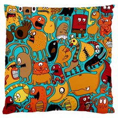 Creature Cluster Large Flano Cushion Case (one Side)