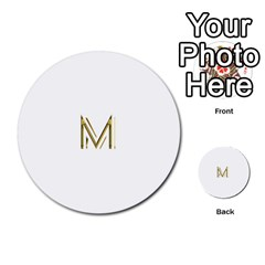 M Monogram Initial Letter M Golden Chic Stylish Typography Gold Multi Purpose Cards (round)  by yoursparklingshop