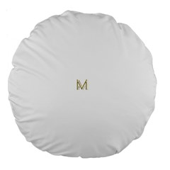 M Monogram Initial Letter M Golden Chic Stylish Typography Gold Large 18  Premium Flano Round Cushions by yoursparklingshop