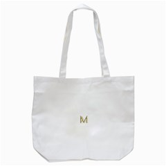 M Monogram Initial Letter M Golden Chic Stylish Typography Gold Tote Bag (white) by yoursparklingshop